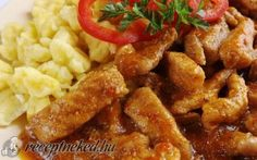 Borsos tokány recept fotóval Hungarian Cuisine, Hungarian Recipes, Hungarian Food, Pork Dishes, Food 52, Entrees, Bacon, Paleo, Good Food