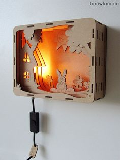 Rabbit Bouwlampie – Do It Yourself (DIY) Kinder Nachtlicht … - Dames Site Woodworking Jigs, Woodworking Projects, 3d Cuts, Licht Box, Laser Cutter Projects, Dollar Store Crafts, Scroll Saw, Laser Engraving, Laser Cutting