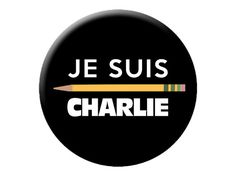 "Je Suis Charlie Pin  I Am Charlie Hebdo Large 2.25"" Pinback Button or Badge in Solidarity with Paris Terrorism Victims, and in support of Free Speech in the Media by psychedelictara"