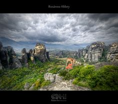This is an image of the world-famous #Metéora site – an amazing place where six monasteries have been built on top of the bizarre rock formations. In this image, you actually see three of them. #UNESCO has put this place onto the World Heritage List. It's a 6-exposure #HDR #image. Follow the link to get a lot more information.