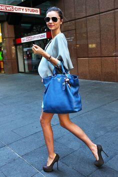 Gorgeous bag, amazing pop of colour - Prada