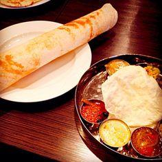 あまり見かけない南インド料理店 #tokushima #japon - 13件のもぐもぐ - ドーサ、ターリー by maixx ใหม่