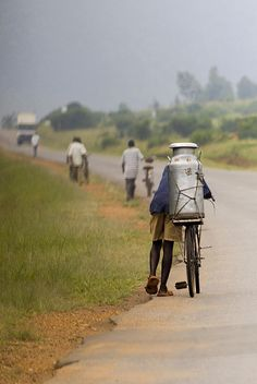 The road from Mbarara to Kabale, Uganda