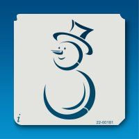 22-00181 Cheerful Snowman Stencil