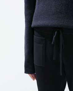 RIBBED KNIT TROUSERS // Zara