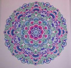 Ingekleurd met stabilo 68' uit het enige echte mandala kleurboek.