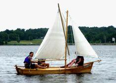 Inagua Sailing Sharpie Wood Boat