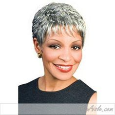 Naomi Synthetic Wig by Foxy Silver Wigs - Top Trends Cute Hairstyles For Short Hair, Pixie Hairstyles, Pixie Haircut, Short Hairstyles For Women, Short Hair Cuts, Short Hair Styles, Silver Wigs, Wavey Hair, Grey Wig