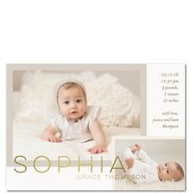 Layered Moments Birth Announcements