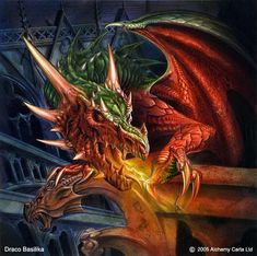 Draco Basilika Here Be Dragons, Alchemy Art, Dragon Images, Gothic Fairy, Dragon Slayer, Fantasy Dragon, Draco, Fantasy World, Beast