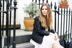Summer Dress / Pink / Brandy Melville / Leather Jacket / Sunglasses / Brighton / Style / Hello October