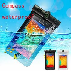 free shipping Compass Waterproof Transparent PVC Pouch Dry Bag Case For iPhone 5s/6s/6plus for Smartphone accessories