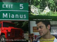 Haha! I loved this one. I randomly say a sentence or question with Mianus. Ha.