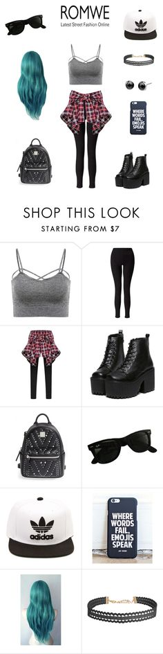 """Untitled #333"" by balletlover15 ❤ liked on Polyvore featuring Miss Selfridge, MCM, Ray-Ban, adidas and Humble Chic"