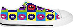 Lica'licous white soled low top unisex sneakers. Double Take, Style And Grace, Print Design, Organic Cotton, Unisex, Sneakers, Tennis, Slippers, Sneaker