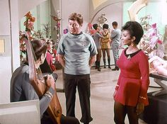 This deleted scene from the third season episode Elaan of Troyius featured Spock tuning a Vulcan lyre in the recreation room set which had been built for the scene. The scene was filmed on June 10, 1968.