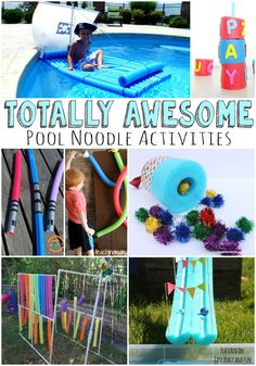 Totally Awesome Pool Noodle Activities - Easy Peasy and Fun by francisca Summer Activities For Kids, Camping Activities, Summer Kids, Craft Activities, Games For Kids, Camping Games, Indoor Activities, Summer School, Family Activities