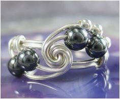 Holmescraft's Math and Science Inspired Wire Wrapped Rings - The Beading Gem's Journal