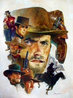Clint Eastwood, and westerns in general Clint Eastwood, Eastwood Movies, Western Film, Western Movies, Western Art, Westerns, Gravure Illustration, Cinema Tv, Cowboy Art