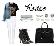 """Rodeo"" by anaelle2 ❤ liked on Polyvore featuring Versace, Frame Denim, Gianvito Rossi, Hermès, Givenchy, Le Gramme, Charlotte Russe, Cartier, women's clothing and women's fashion"