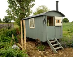 Shepherds hut hideaway ~ Oh how sweet if I had one of these instead of a shed!