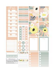 Secret Garden Planner Stickers