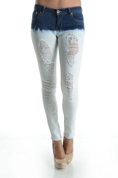 pink skinny jeans -- found on BIBANDTUCK.COM | Jeans Stay Skinny ...