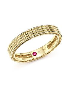 Roberto Coin 18K Yellow Gold Symphony Braided Ring | Bloomingdale's