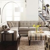 Love the accent piping and buttons on this sectional. Found it at AllModern - Dorset Sectional