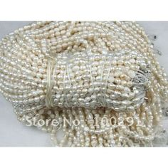 free shipping ! wholesale6-7mm  white rice  freshwater pearlFreeshipping!!!