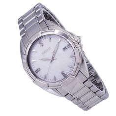 Stainless Steel Bracelet, Stainless Steel Case, Displaying Crystals, Seiko Watches, Mother Pearl, Sport Watches, Jewelry Stores, Omega Watch, Bracelet Watch