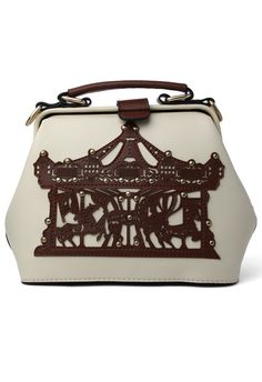 Merry-Go-Round Doctor Bag in Brown