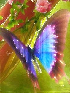 GIFS HERMOSOS: FLRES Y MARIPOSAS ENCONTRADAS EN LA WEB Beautiful Butterflies, Beautiful Flowers, Heart Gif, My Beautiful Daughter, Cellphone Wallpaper, Gifs, Moth, Butterfly, Glitter
