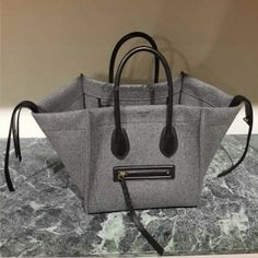 Celine Grey Felt Phantom Bag - Fall 2014