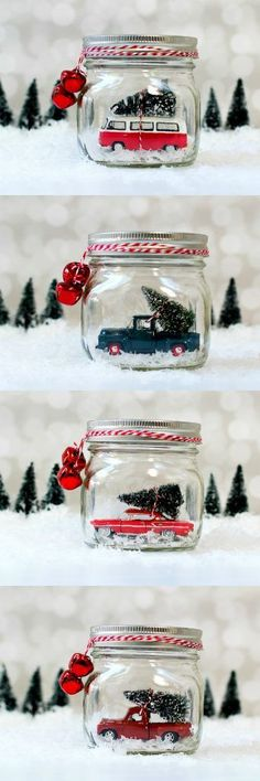 DIY Mason Jar Snow G