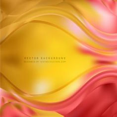Yellow Orange Wavy Background #freevectors
