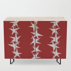 Buy Strings of Stars - Red and White Credenza by laec. Worldwide shipping available at Society6.com. Just one of millions of high quality products available.