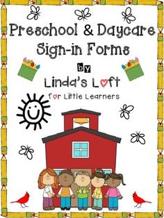 Preschool and Daycare Signin Forms Great Resources on