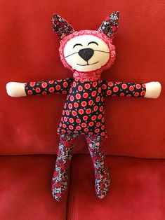 Fabric Cat Doll made with Kid Giddy Sizzix dies.