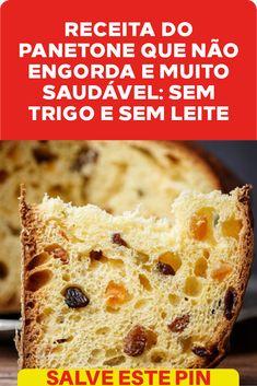Panettone Cake, Lactose, Bread Recipes, Banana Bread, Chocolate, Bacon, Healthy Eating, Gluten Free, Desserts
