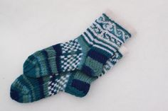 Knitted socks Christmas by DominikaSamara on Etsy