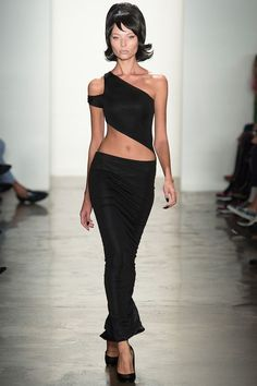 How to Wear a One-Shoulder Tank Top with a Skirt.  Jeremy Scott.