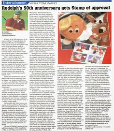 Here is another version of the article about my involvement with the USPS Rudolph the Red-Nosed Reindeer stamp project in 2014 Misfit Toys, Rudolph The Red, Red Nosed Reindeer, World Of Sports, 50th Anniversary, Historian, Teddy Bear, Stamp, Entertaining