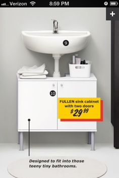 under pedestal sink storage cabinet - not sure i'll ever need this ...
