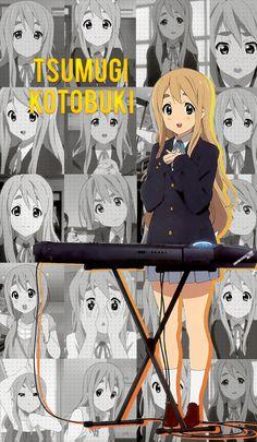 Tsumugi Kotobuki | K-on! | Wallpaper K On Anime, Anime Kawaii, Otaku Anime, Anime Art Girl, Anime Manga, Vaporwave, Kobayashi San Chi No Maid Dragon, Anime Traps, Anime Drawing Styles
