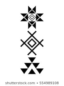 Navajo print, Aztec pattern, Tribal design, Native American - Buy this stock vector and explore similar vectors at Adobe Stock Mayan Symbols, Viking Symbols, Egyptian Symbols, Viking Runes, Ancient Symbols, Pattern Drawing, Pattern Art, Pattern Design, Black And White Art Drawing