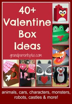 The next holiday, Valentine's Day, is just around the corner and hopefully these Valentine Box Ideas will get your creative juices flowing for your child's own Valentine box. My Funny Valentine, Valentine Boxes For School, Valentines For Boys, Valentines Day Party, Valentine Day Crafts, Valentine Ideas, Holiday Fun, Holiday Crafts, Party Crafts