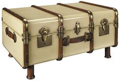 Stateroom Trunk in Ivory -- Want additional info? Click on the image. (This is an affiliate link) #CozyHomeDecor