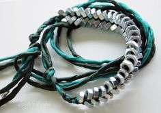 Green with envy  Braided Hex Nut Collection by sivylla on Etsy, €12.00
