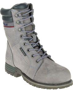 5c8291e46f0f CAT Women's Echo Waterproof Steel Toe Work Boots | Boot Barn Steel Toe Boots  Women,